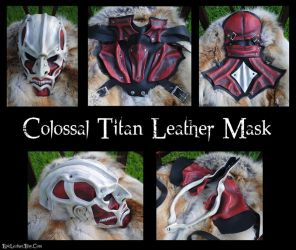 Attack On Titan: Colossal Titan Leather Mask by Epic-Leather