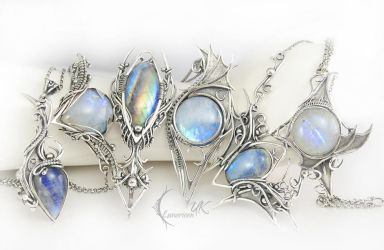 Necklaces and bracelets by Lunarieen UK by LUNARIEEN