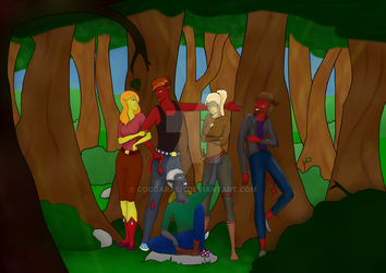 Dnd a good day in the woods by cocoarash