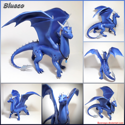 Commission: Blueco Silverscales figure by Laservega