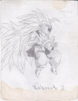 Super Saiyan 3 Kid Goku Drawing by AplG7