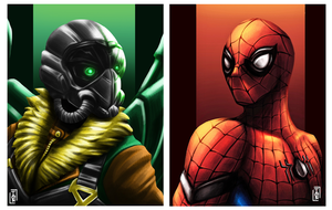 Spider-man Homecoming : Spidey and Vulture fanart by tontentotza