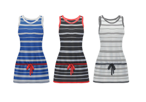 Cute Striped Dress DL by Reseliee