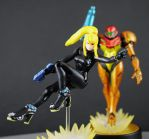 Custom Samus Aran of Metroid Amiibo figure 2 by Jin-Saotome