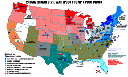 2nd american civil war (post world war 3) by rondrigo-alex