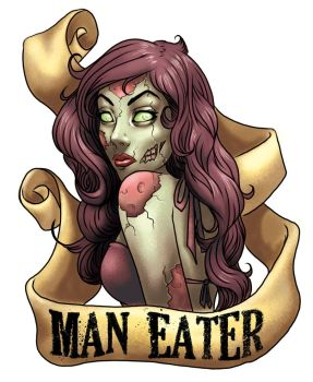 Zombie Pin Up Tattoo Style by BlackHawk45LC