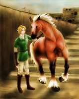 Link and Epona by missjalea