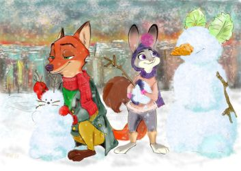 Let it snow in Zootopia by MurLik