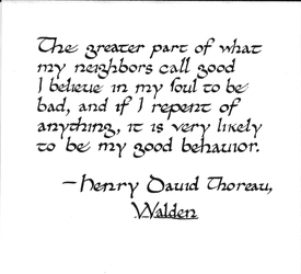 Thoreau quote: good behavior by studentofrhythm