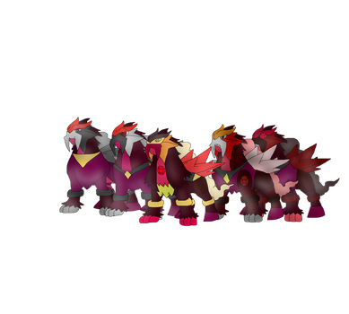 Team Ruby in Pokemon form by FireEmber345