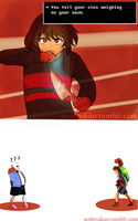 Undertale Comic Frisk's Baggage by atomicheartlight