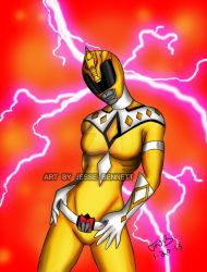 Yellow griffin thunder ranger by blueliberty