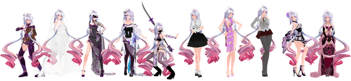 MMD Model Pack: TDA Maika Pack 2 by K-Manoc1