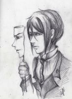 Sebastian_the mask of the beast [pencil ver.] by Melkpso