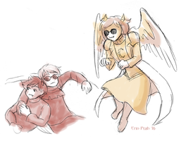 Homestuck sketches by ErinPtah