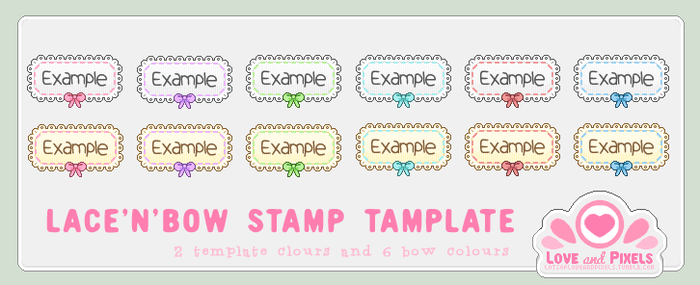 Stamp - Lace'n' Bow Template by firstfear