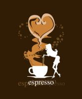 Espresso Coffee Girl by Coolgraphic