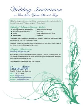 Wedding Collateral Services by Lanisatu