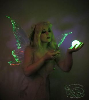 Green Fairy Light Up Wings 1 by FaeryAzarelle