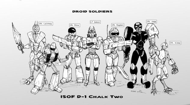Droid Soldiers Cast 02 by JennerCarnelian