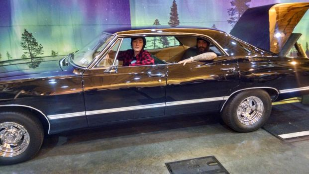Chilling with my Dad in the Impala by RavenluvsSesshomaru