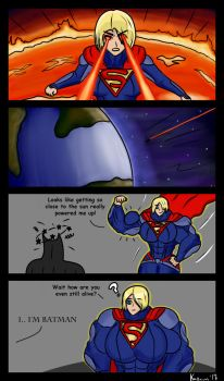 Pumped up Supergirl by kaxaun