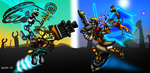 Death Battle: Ratchet and Clank VS Jak and Daxter by Playstation-Jedi