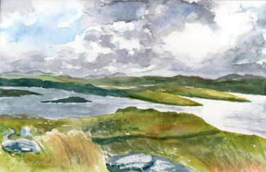 Lochs and Hills of Lewis by Virtuella