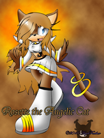 Rosette the Angel Cat :AT: by AnjelFeather