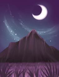 Nightscape in Purple by TheDraconicBard