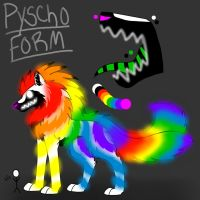 RainbowDawn's Pyscho Form Ref. sheet by xRainbowDawnx