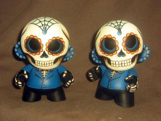 Day of the Dead Mini Munnys by ReverendBonobo