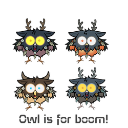 Owl is for BOOM by lilena