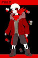 [ANOTHERTALE REF] Falz the Skeleton by Azureanothertale