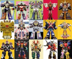 Megazords combined with 6th Ranger Megazords by ChipmunkRaccoonOz