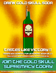 Gold Skull Supremacy Propaganda poster5 by spikerman87