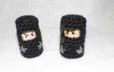 Cork and Crochet Ninjas! by Ayjah