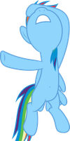 Mlp Fim Rainbow Dash (uh...) vector by luckreza8