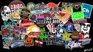 WWE Stickerbomb Wallpaper HD by sub1987thai