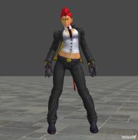 Crimson Viper 1p outfit for XNALara by KSE25