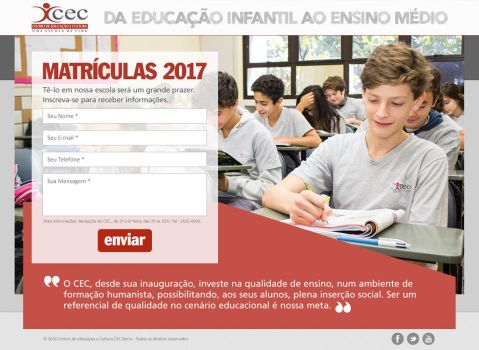CEC - Matriculas 2017 by rosye