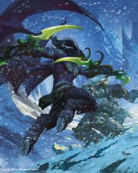 Arthas fighting Illidan by bayardwu