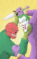 The Joker vs The Red Skull - Color by RobotGorilla