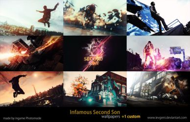 Infamous Second Son wallpapers pack by iEvgeni