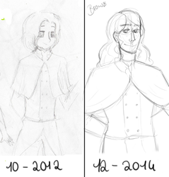 Art Comparison: 2012 vs 2014 by CrazyCartoonCookies