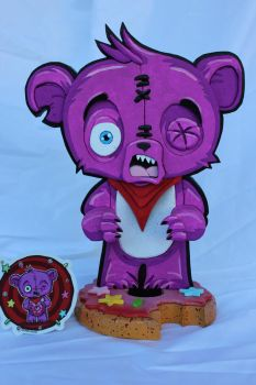 Scary Beary Business Card Holder by RamageArt