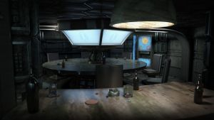 Sci-fi Mess Hall Interior by NowThatsBrawny
