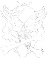 Tribal Skull by Disturbed-Minded