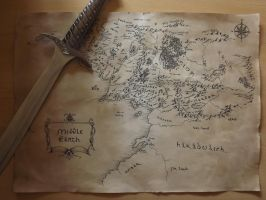 Map of Middle Earth by alatarielarfeiniel