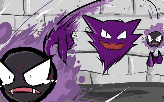 Haunter and Gastly by ishmam